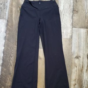 Athleta black flared legging sz small